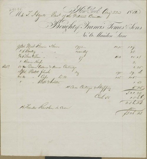 Francis Tomes and Sons to Thaddeus Hyatt, receipts - Page