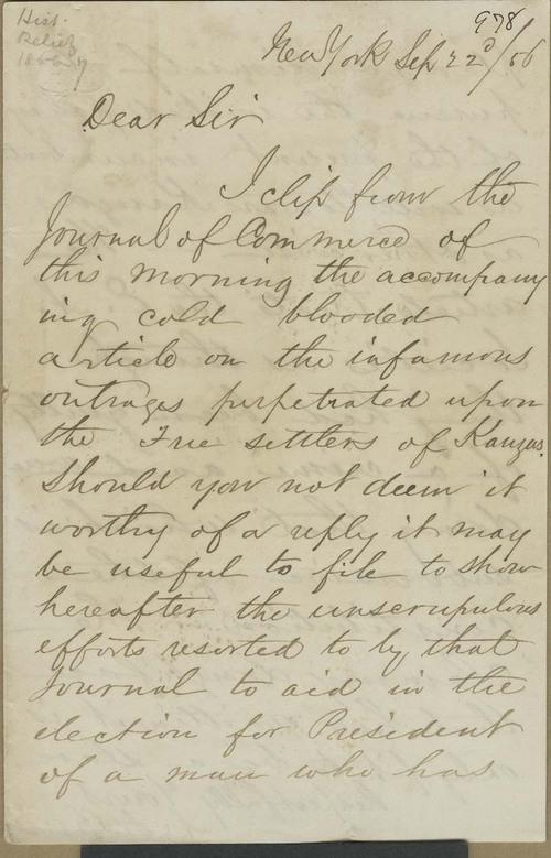 A.S. Harris to Thaddeus Hyatt - Page