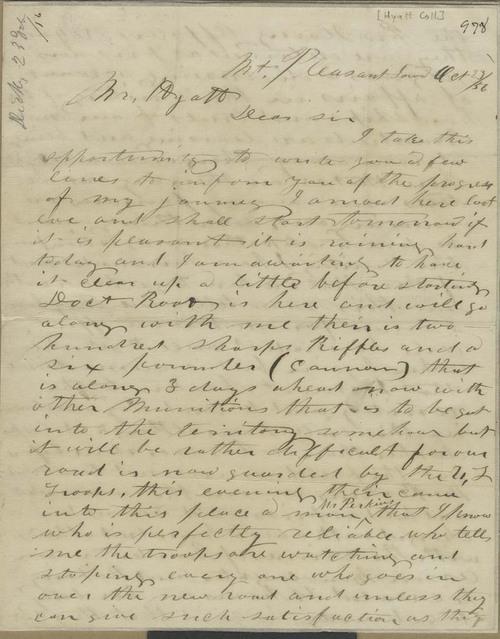 Milton C. Dickey to Thaddeus Hyatt - Page