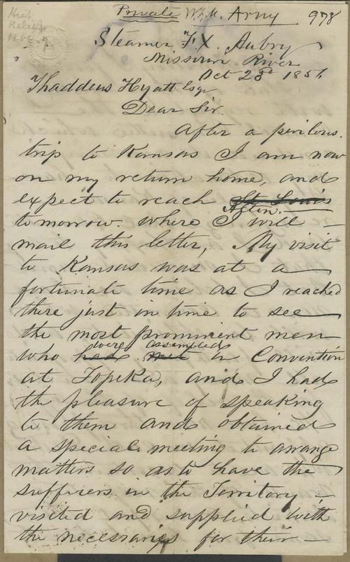William Frederick Milton Arny to Thaddeus Hyatt - Page