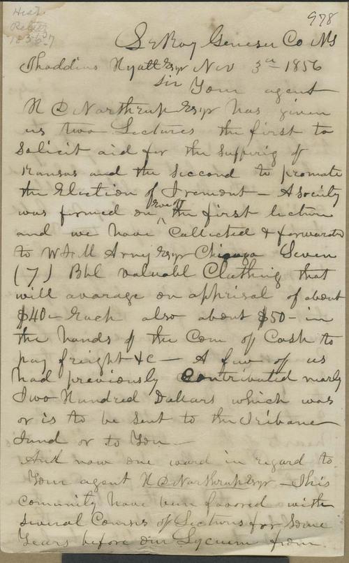 S. Chamberlin to Thaddeus Hyatt - Page