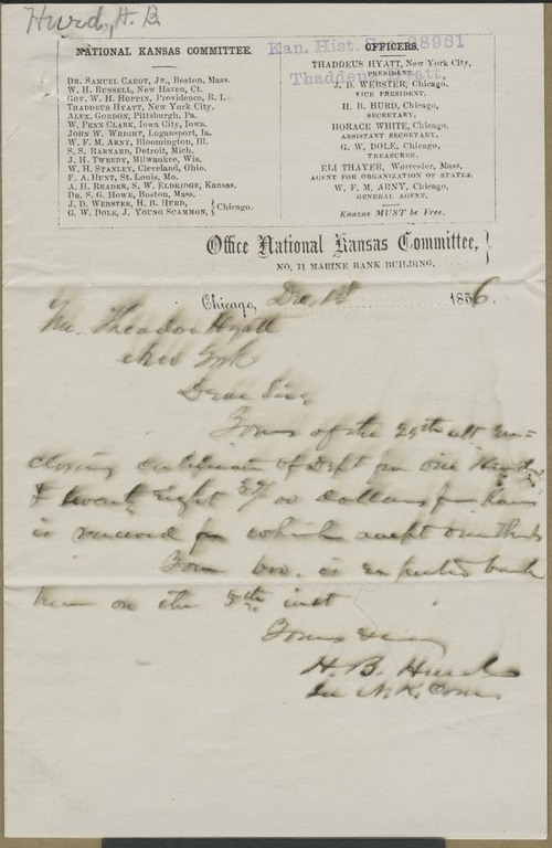 Harvey Bostwick Hurd to Theodore Hyatt - Page