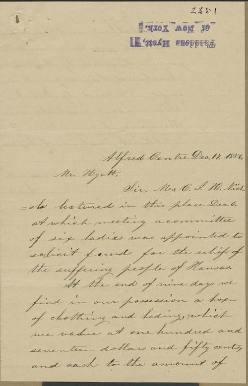 Harriet S. Crandall to Thaddeus Hyatt - Page