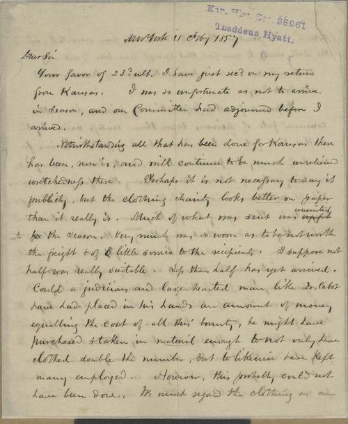 Thaddeus Hyatt to Amos Adams Lawrence - Page