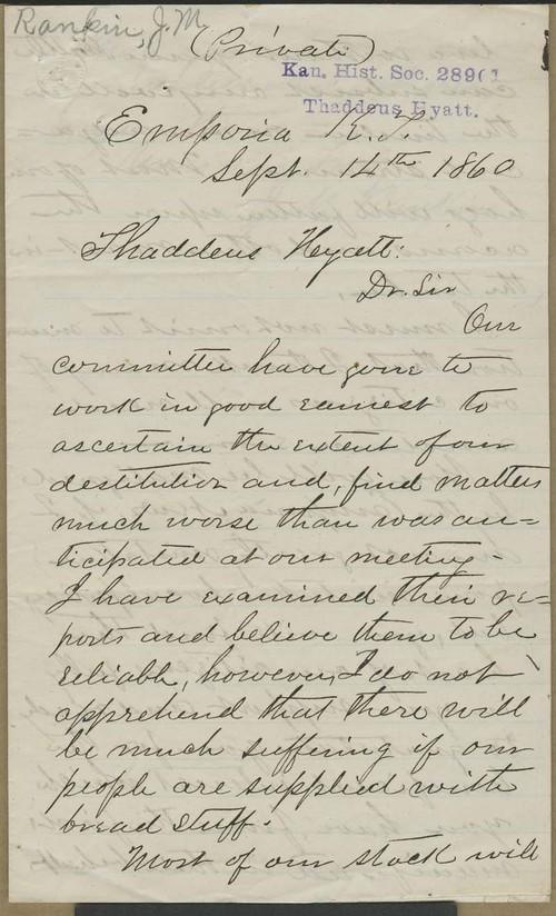 J.M. Rankin to Thaddeus Hyatt - Page