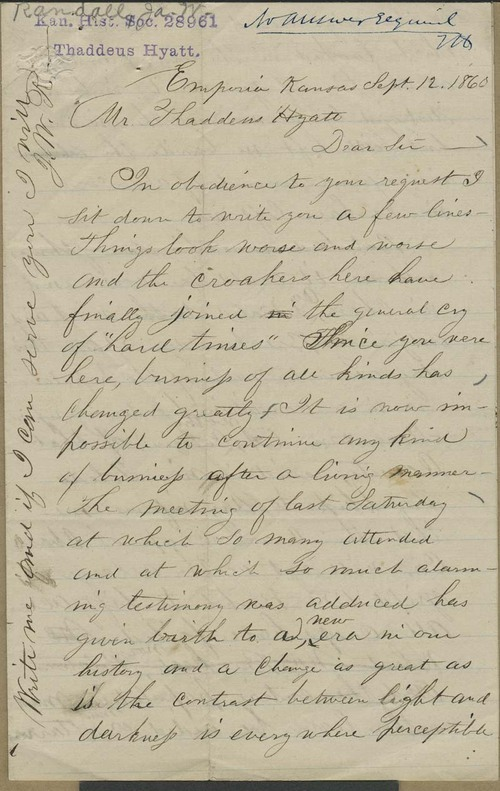 James W. Randall to Thaddeus Hyatt - Page