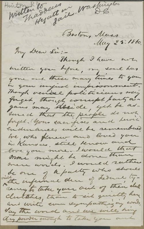 Richard Josiah Hinton to Thaddeus Hyatt - Page