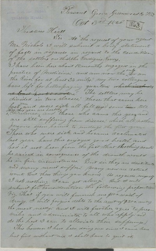 A. Venard to Thaddeus Hyatt - Page
