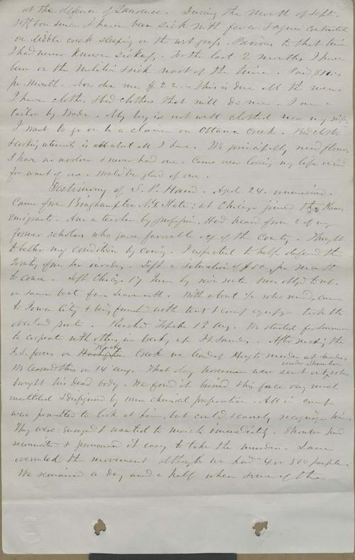 S.P. Hand, testimony - Page