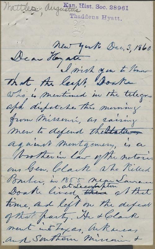 Augustus Wattles to Thaddeus Hyatt - Page