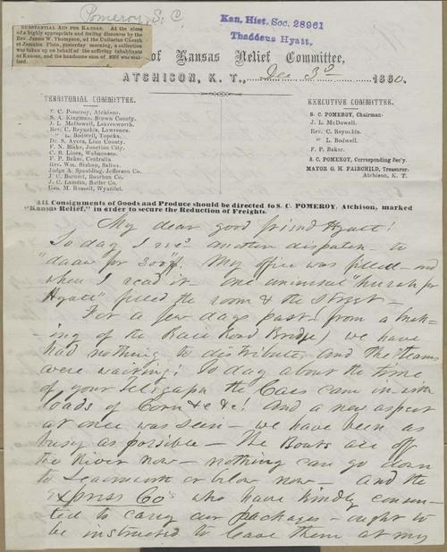 Samuel Clarke Pomeroy to Thaddeus Hyatt - Page