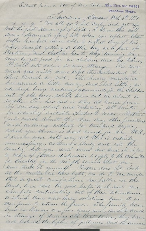 Mrs. Holmes, letter - Page