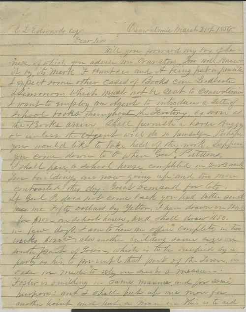 Orville Chester Brown to C.L. Edward - Page