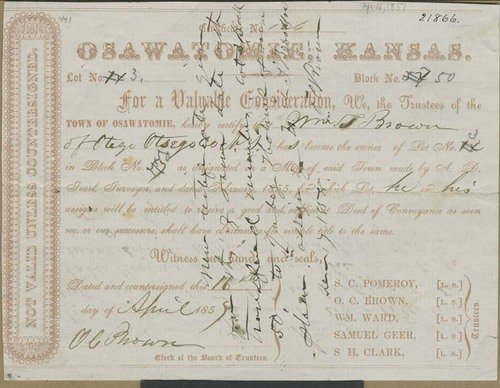 William Brown, deed - Page