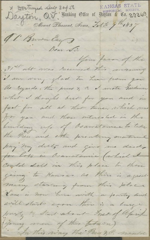 Oscar Dayton to Orville Chester Brown - Page