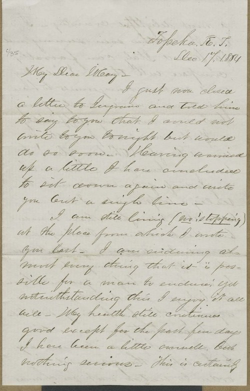 Cyrus Kurtz Holliday to Mary Dillon Holliday - Page