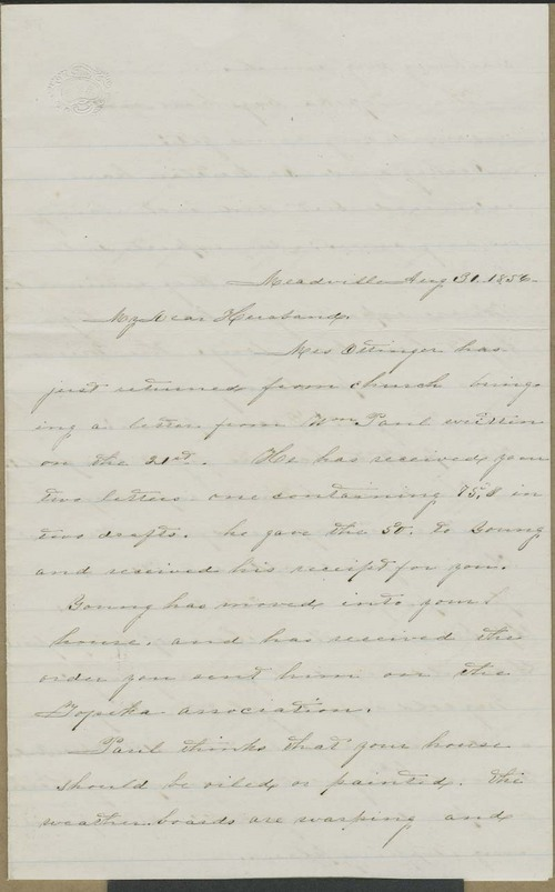 Mary Dillon Holliday to Cyrus Kurtz Holliday - Page
