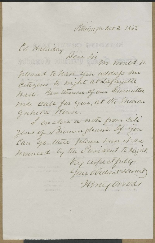 Henry Woods to Cyrus Kurtz Holliday - Page