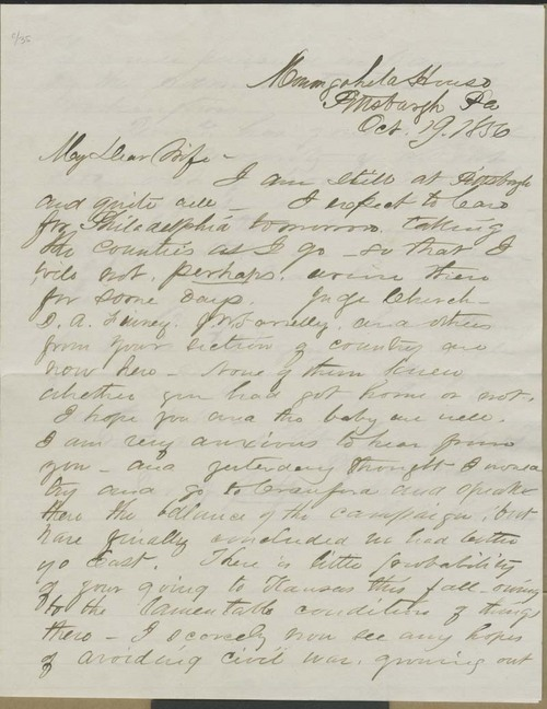 Cyrus K. Holliday to Mary Holliday - Page