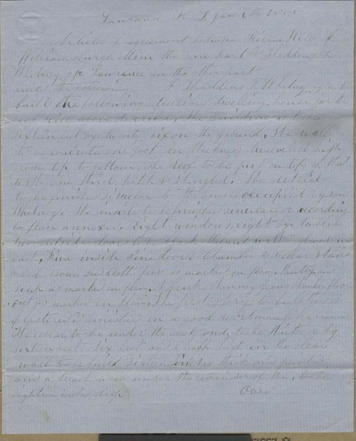 Hiram Hill and Thaddeus L. Whitney, Articles of Agreement - Page