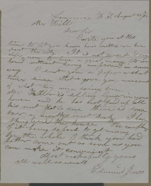 Edmund Jones to Hiram Hill - Page