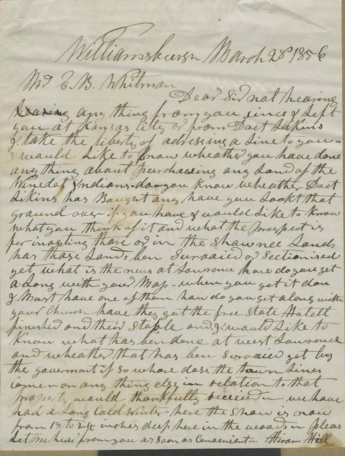 Hiram Hill to Edmund Burke Whitman - Page