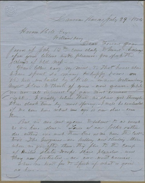 Samuel Newell Simpson to Hiram Hill - Page