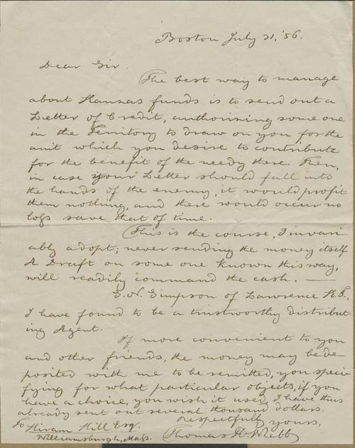 Thomas Hopkins Webb to Hiram Hill - Page