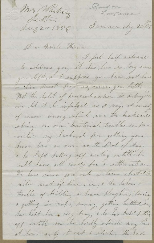 E. S. Whitney to Hiram Hill - Page