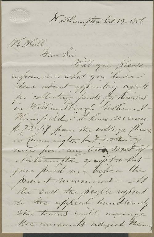 Samuel F. Lyman to Hiram Hill - Page