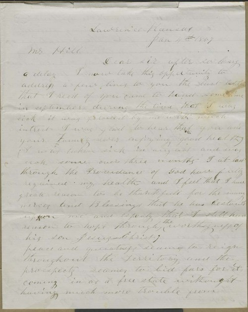 Charles A. Wright to Hiram Hill - Page