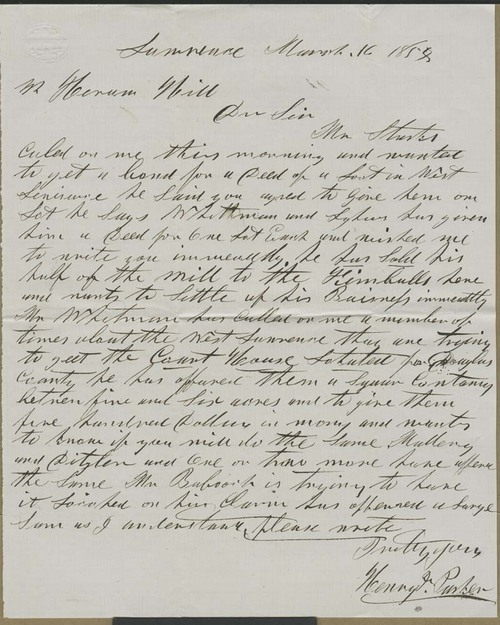 Henry Parker to Hiram Hill - Page