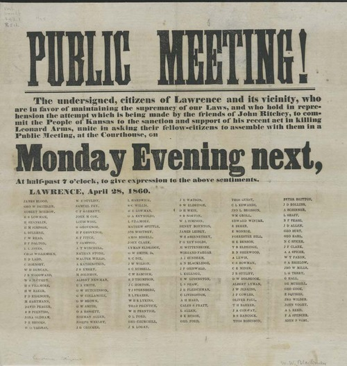 Public Meeting! Opposing John Ritchey in his recent act of killing of Leonard Arms - Page