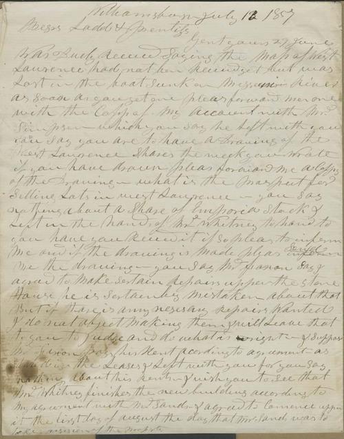 Hiram Hill to Erastus D. Ladd & S.B. Prentiss - Page