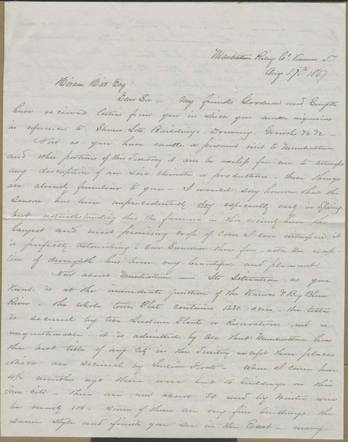 John W. Robinson to Hiram Hill - Page