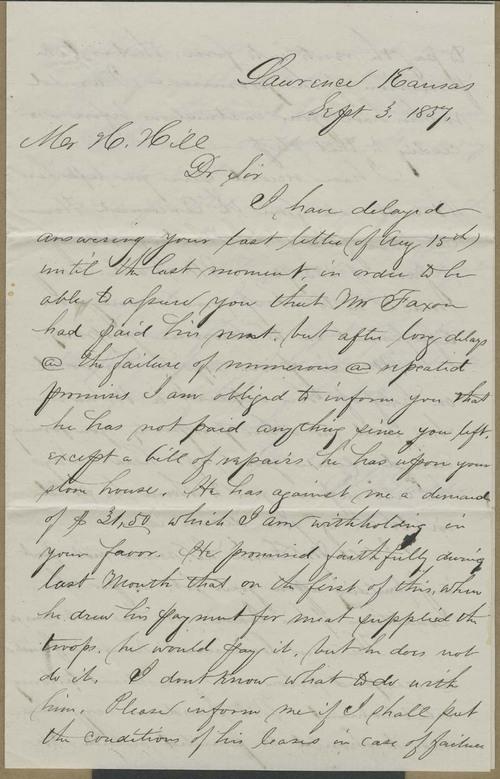 Erastus D. Ladd to Hiram Hill - Page