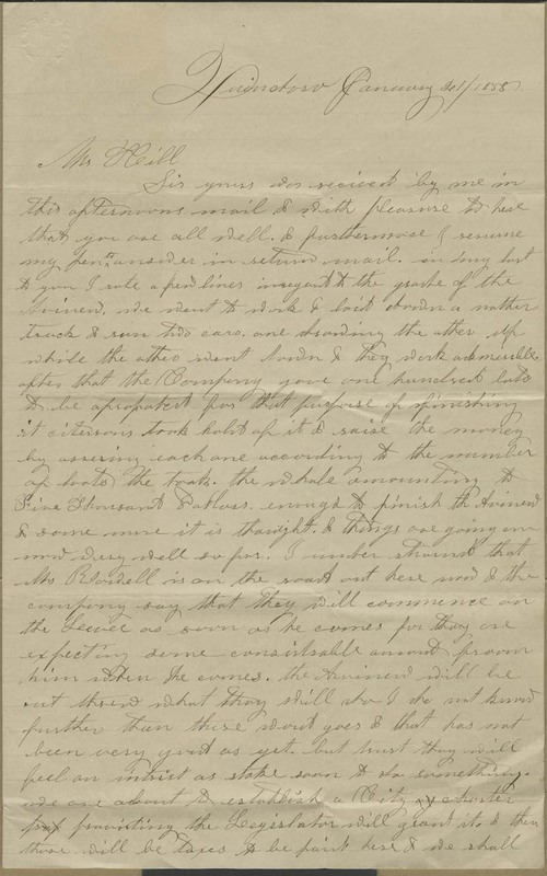 Albert C. Morton to Hiram Hill - Page