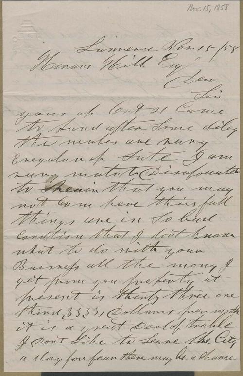 Henry F. Parker to Hiram Hill