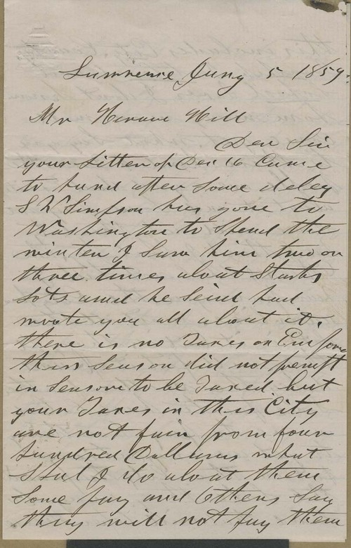 Henry F. Parker to Hiram Hill - Page