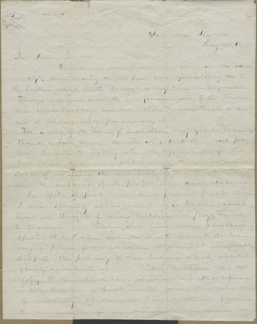 Oscar E. Learnard to S.T. Learnard, his father - Page