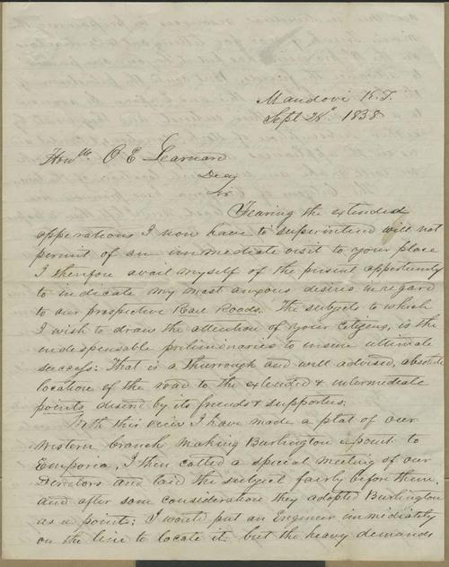 John B. Chapman to Oscar E. Learnard - Page