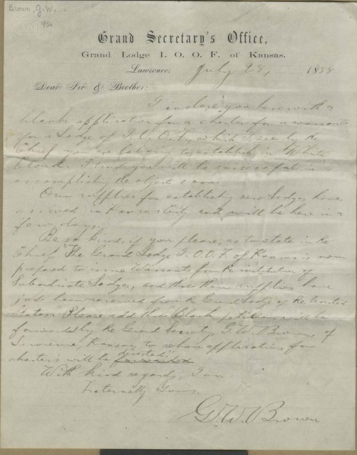 George Washington Brown to Dear Sir & Brother - Page