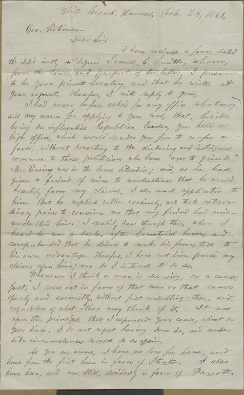 Sol Miller to Gov. Charles Robinson - Page