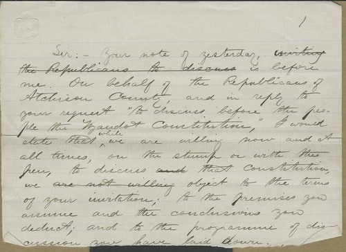 John A. Martin, letter - Page