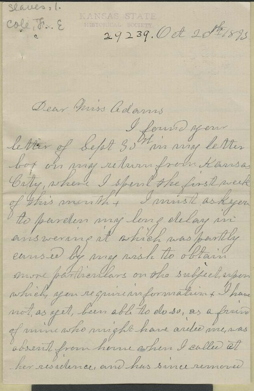 Fannie E. Cole to Zu Adams - Page