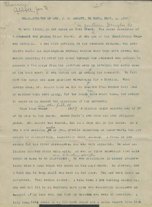Reminiscences of Mrs. James Burnett Abbott - Page