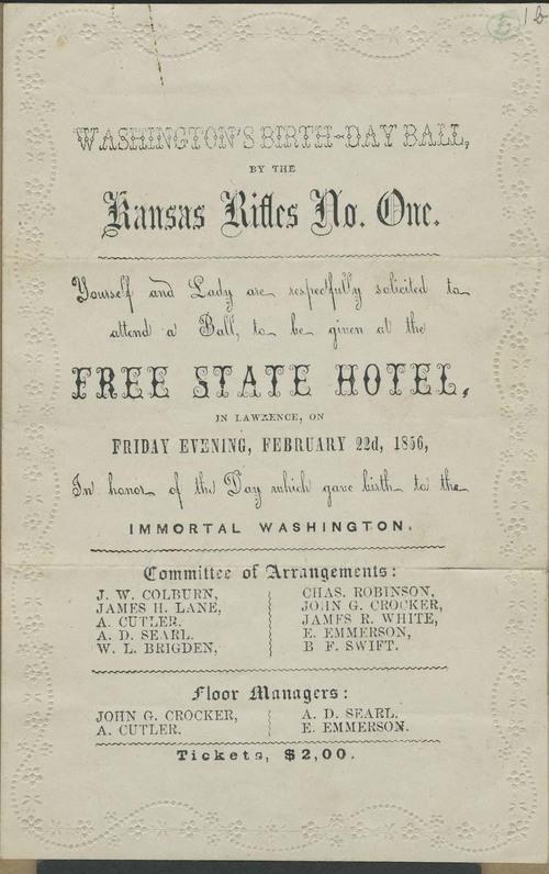 Invitation to Washington's Birthday Ball - Page