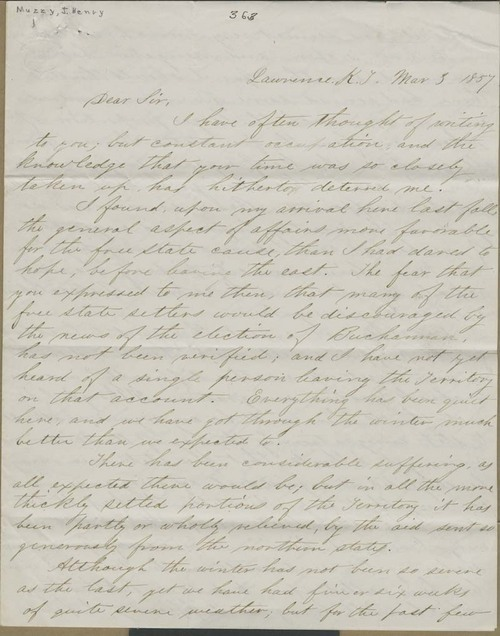 J. Henry Muzzy to Eli Thayer - Page