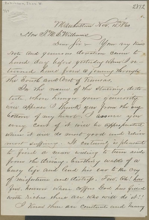 John W. Robinson to John M.S. Williams - Page