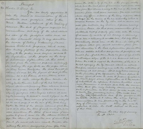 Territorial Census, 1855, District 3 - Page
